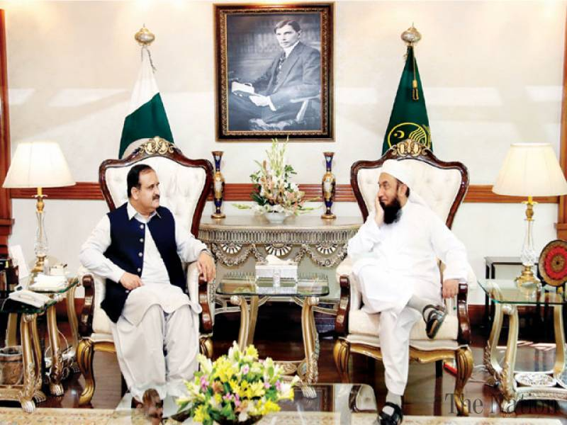 Tariq Jamil Calls on Buzdar
